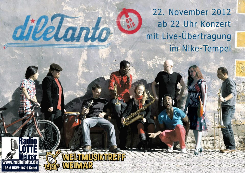 22. November 2012 | Weltmusiktreff Weimar live on air bei Radio Lotte