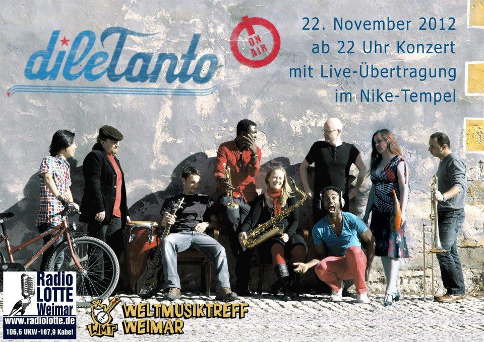 22. November 2012 | Weltmusiktreff Weimar live on air bei Radio Lotte