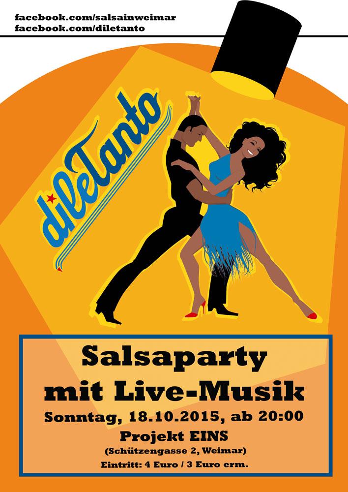 18. Oktober 2015 | Salsaparty im Projekt EINS