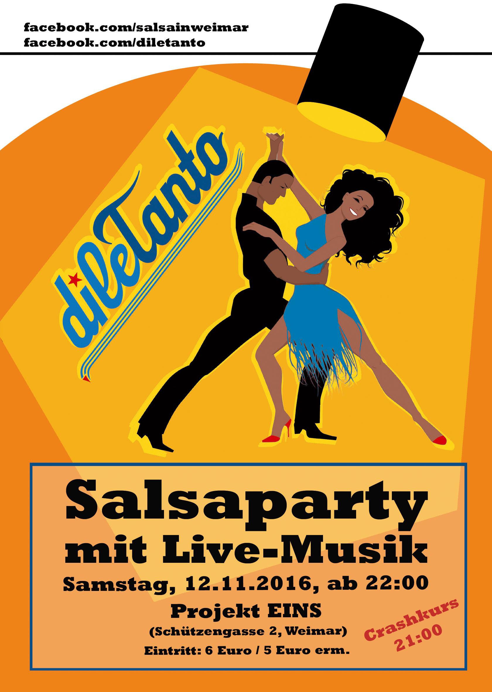 12. November 2016 | Salsa-Party im Projekt Eins