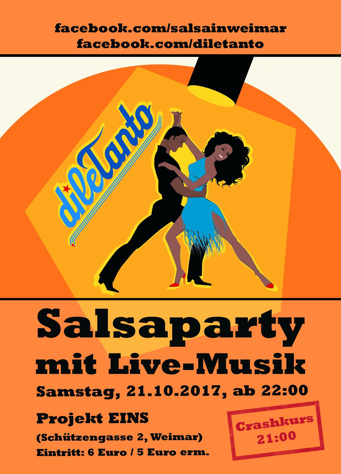 21. Oktober 2017 | Salsaparty im Projekt Eins