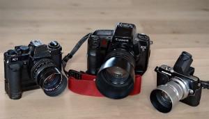 3 Generationen Portraitkameras – AC1+Zeiss 80er, EOS5+85er und Olympus+45er